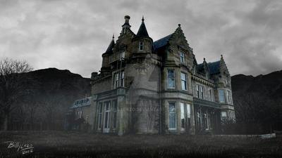 Matte Painting: Dark Mansion