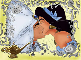 Aladdin and Jasmine by atomicseasoning