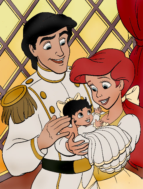 Eric Ariel and baby Melody by atomicseasoning on DeviantArt