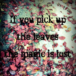 Pick Up The Leaves