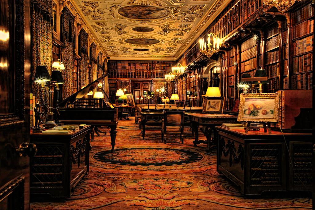 Chatsworth house-Library by oringebob on DeviantArt