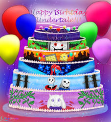 Happy Birthday to Undertale!!!!! by Cryonisia
