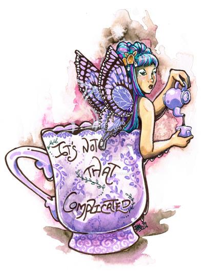 Tea Fairy by gingerbreadart