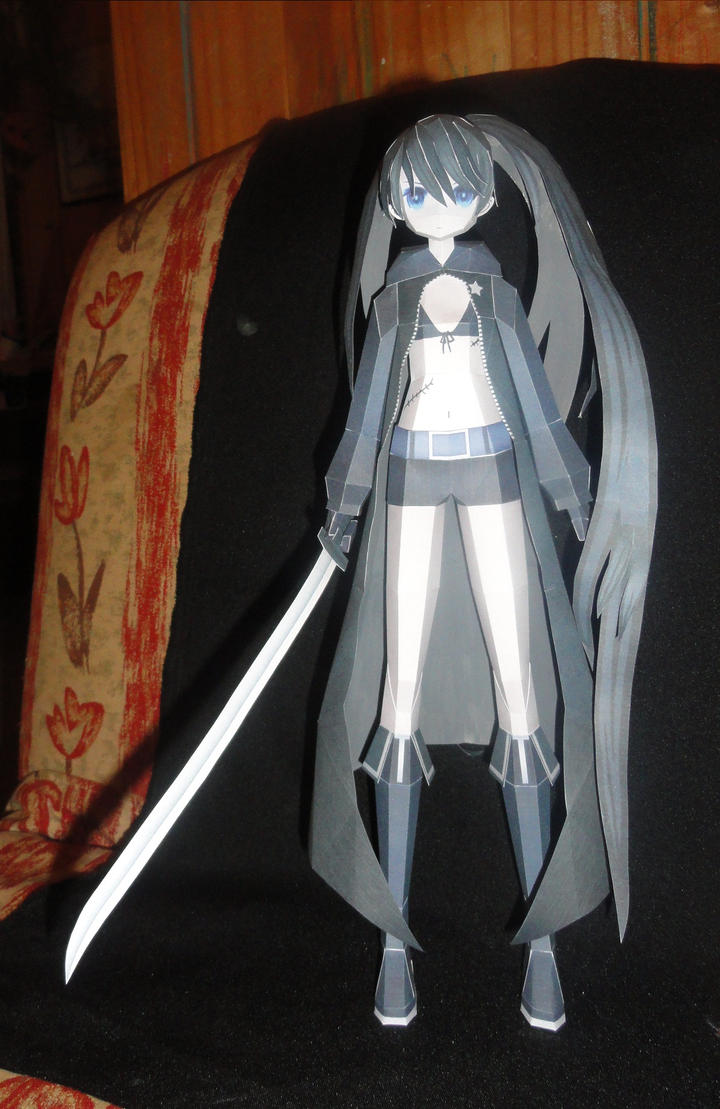 Black Rock Shooter Papercraft by AZBY