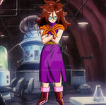 Android 21 In ChiChi's Outfit