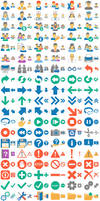 Flat 2013 Toolbar Icons: normal state