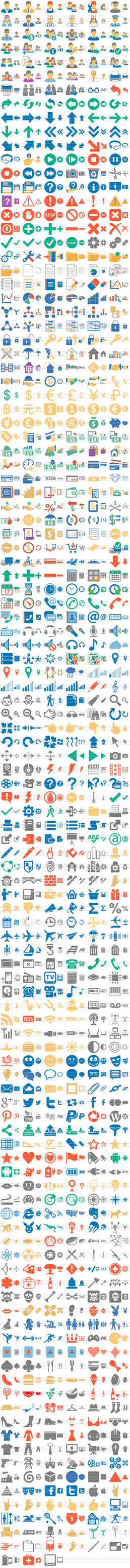 Flat 2013 Toolbar Icons: normal state by toolbaricons2000