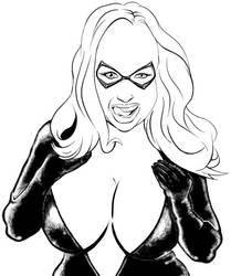 Angel Wicky as Black Cat