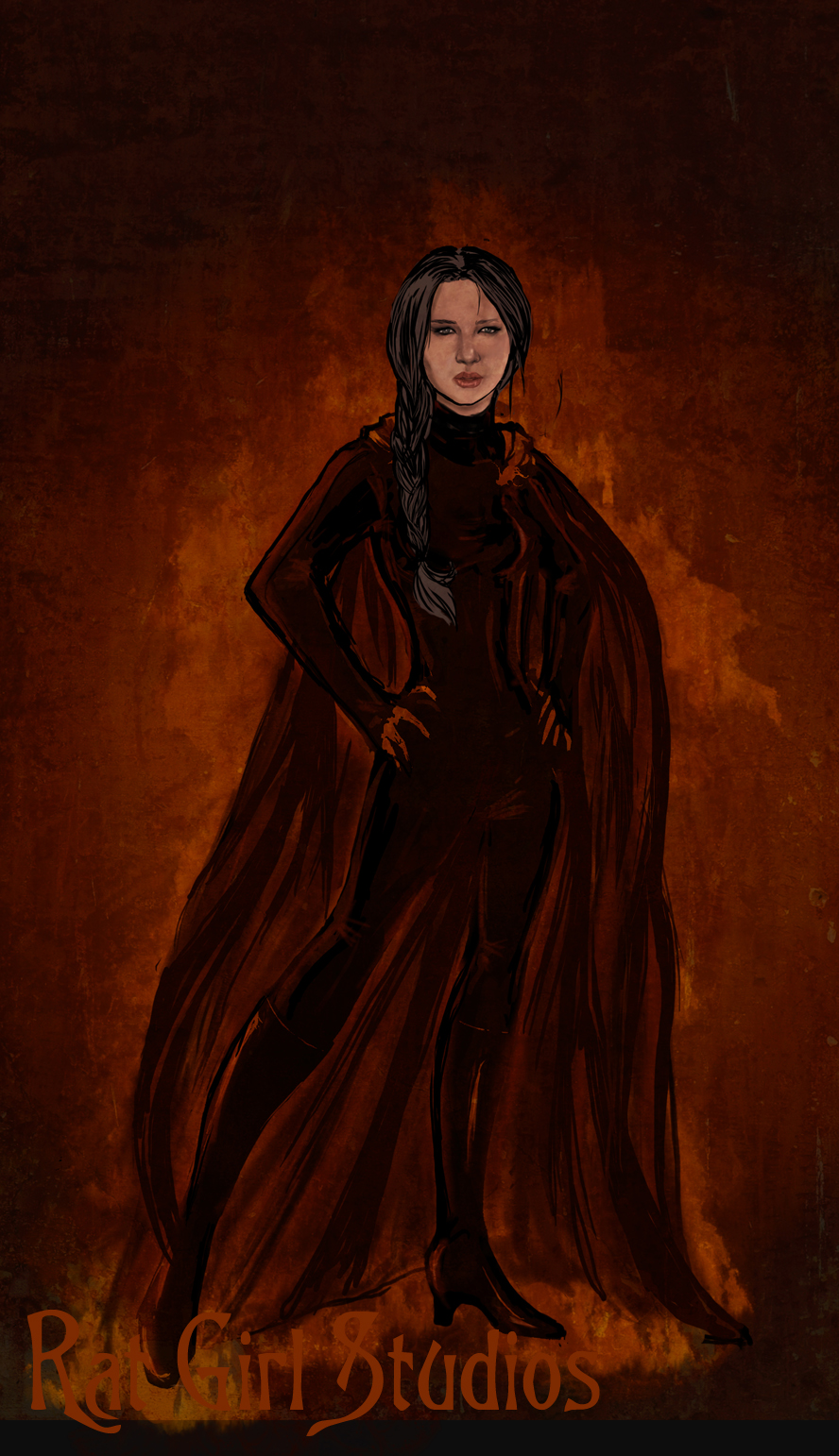 Katniss:Girl On Fire by Ratgirlstudios