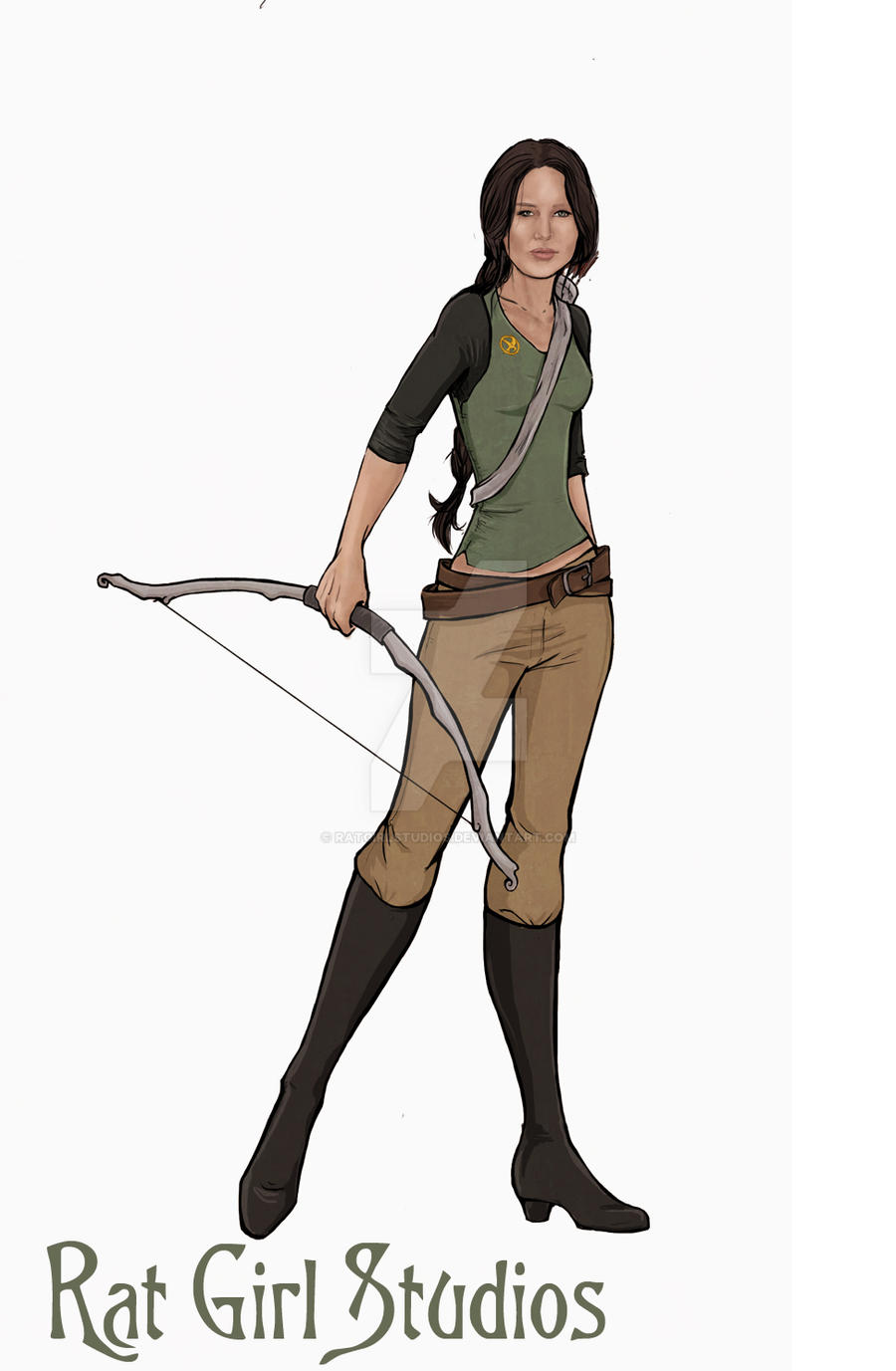 Katniss: In Games by Ratgirlstudios