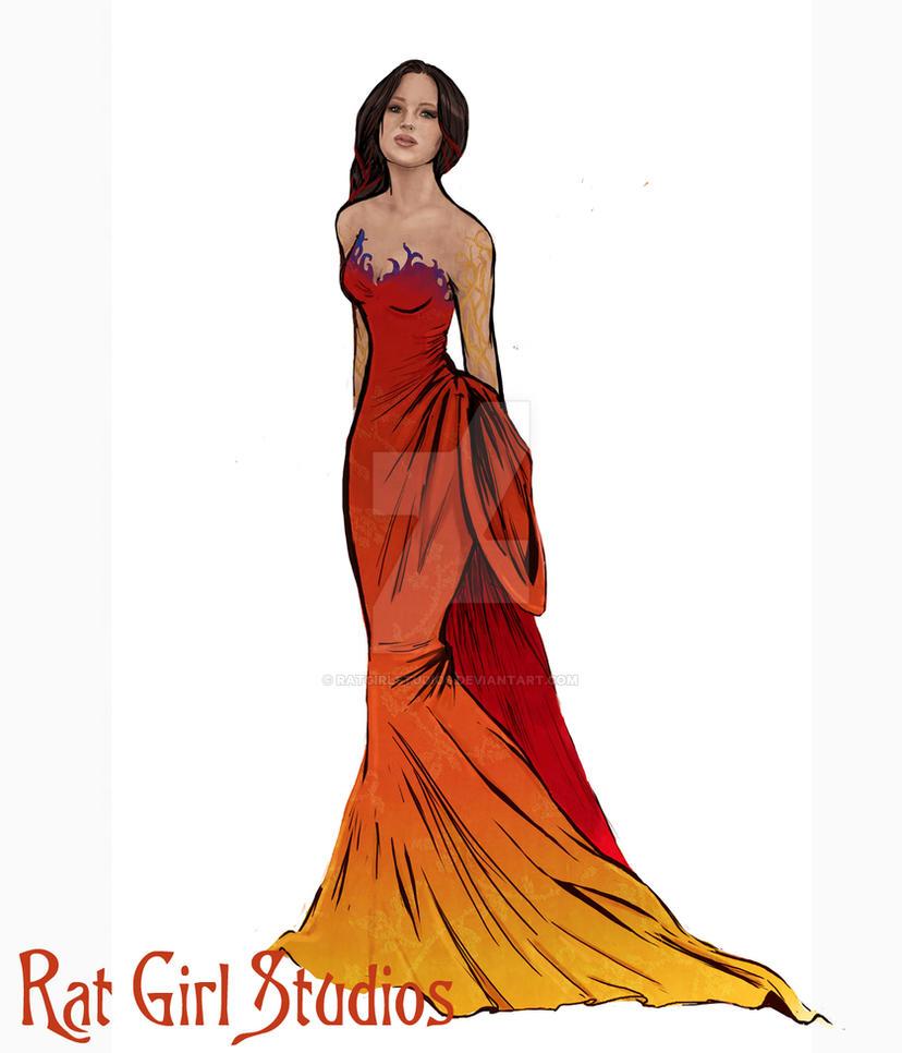Katniss: Interview Dress by Ratgirlstudios