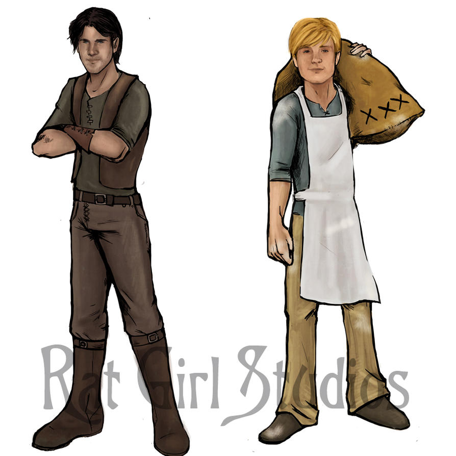 Gale and Peeta by Ratgirlstudios