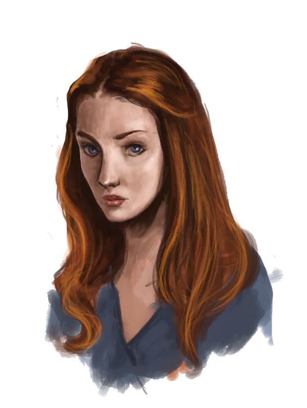 Sansa Portrait by Ratgirlstudios