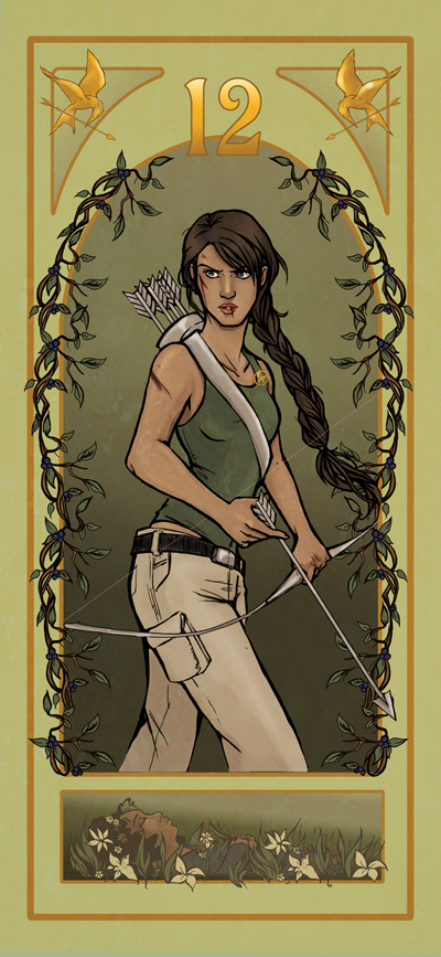 Katniss Art Nouveau by Ratgirlstudios