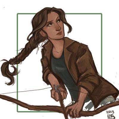 Katniss Sketch by Ratgirlstudios