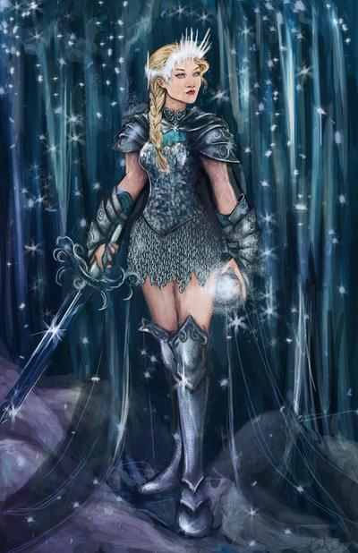 Warrior Ice Queen Elsa by Ratgirlstudios