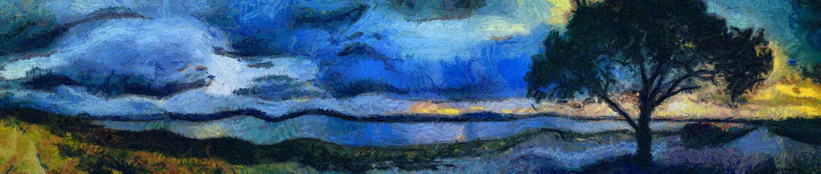 Reinterpretacion Arbol y Laguna Menor by erich-alexey