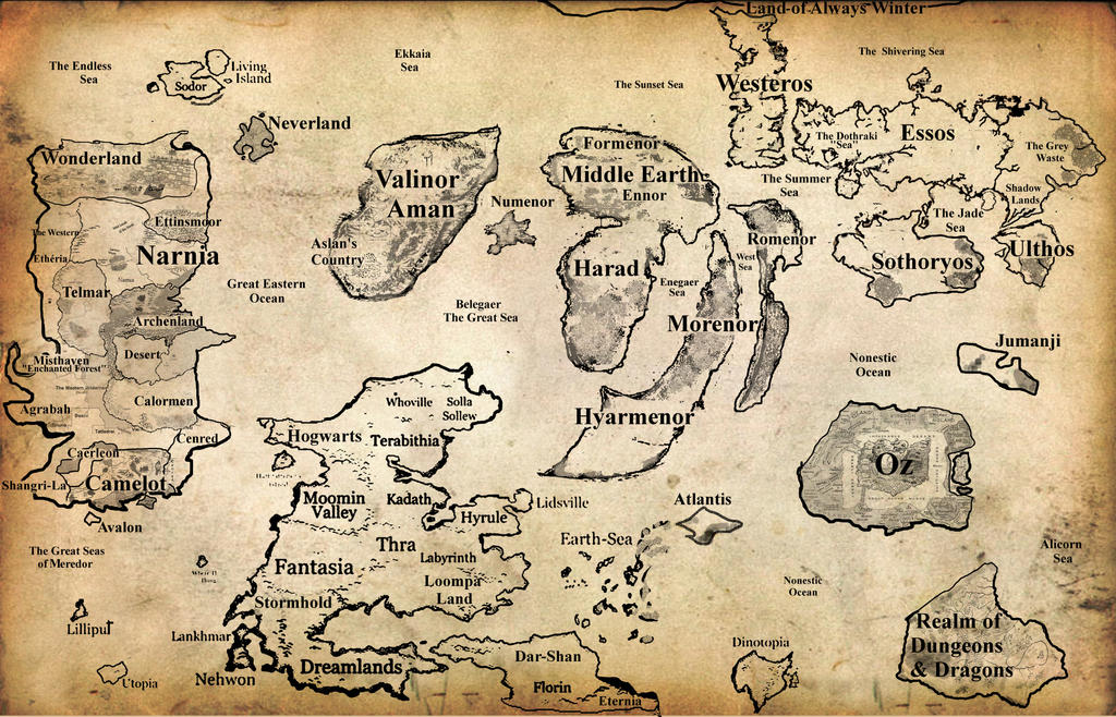 how to draw a fantasy world map