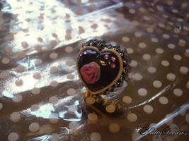 Chocolate Valentines Ring by Cateaclysmic