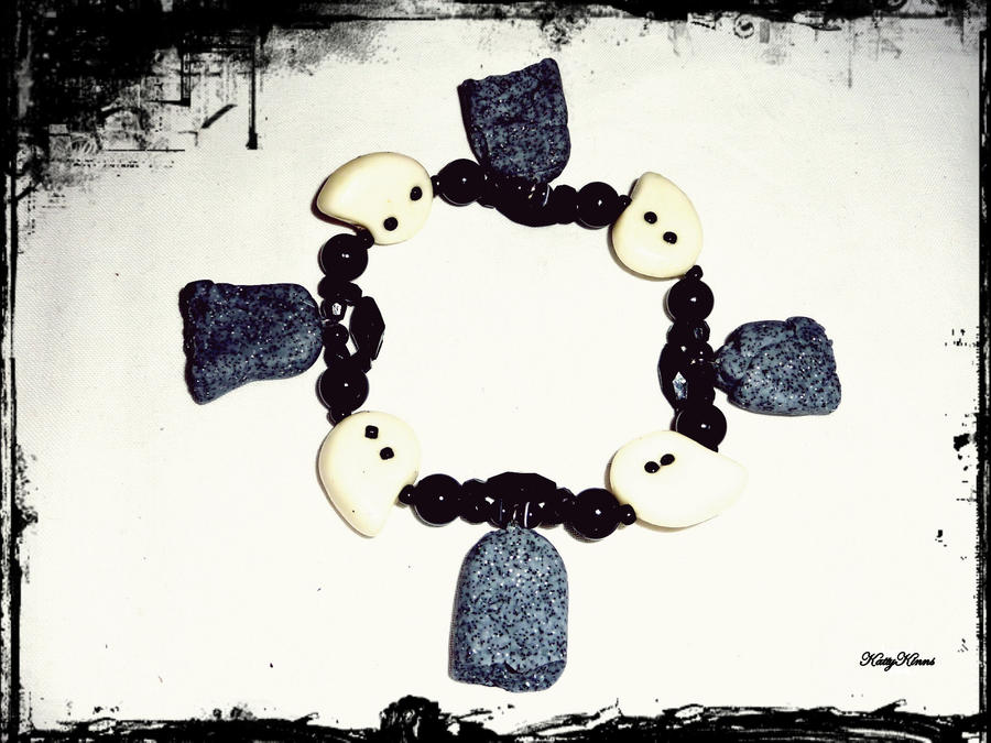 Ghostly Gravestones Bracelet by Cateaclysmic