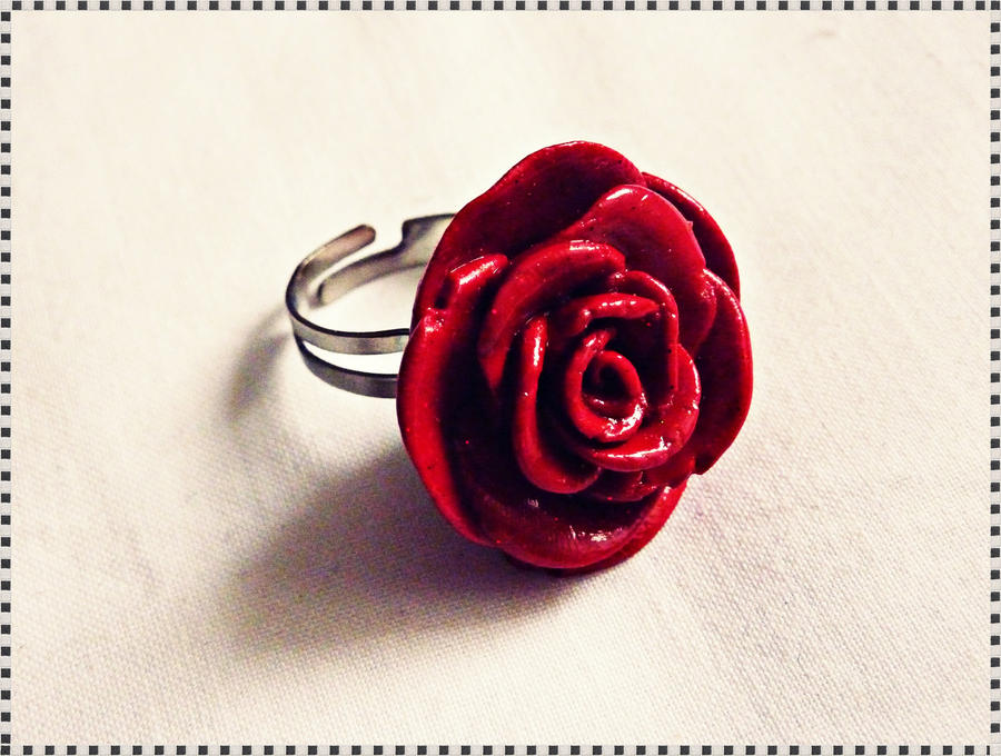 rose il red flower etsy ring market jewelry rings gift