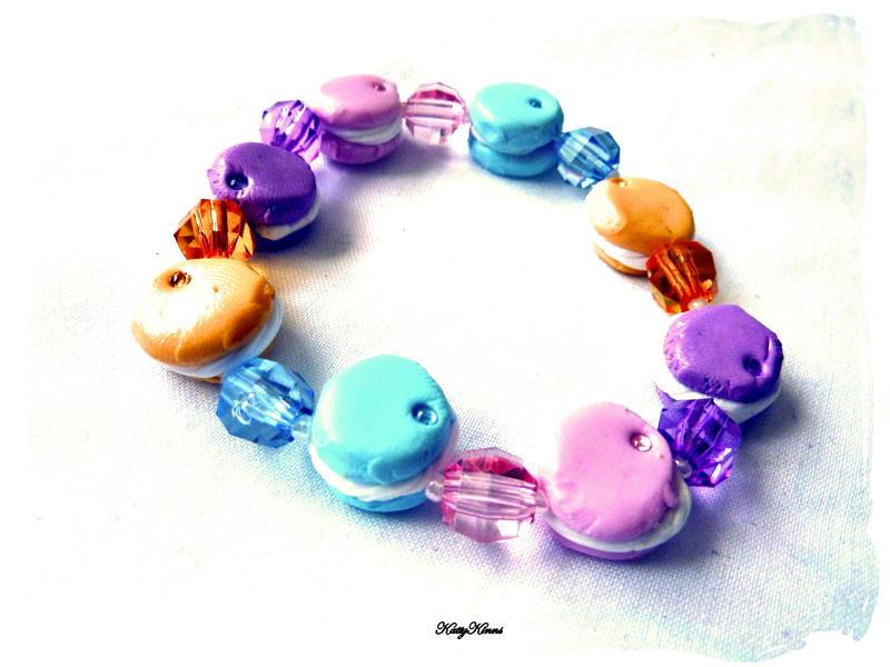Pastel Macaron Bracelet by Cateaclysmic