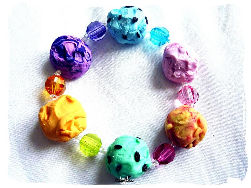 Ice Cream Bracelet 6 by Cateaclysmic