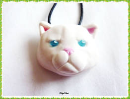 Persian Cat Necklace by Cateaclysmic