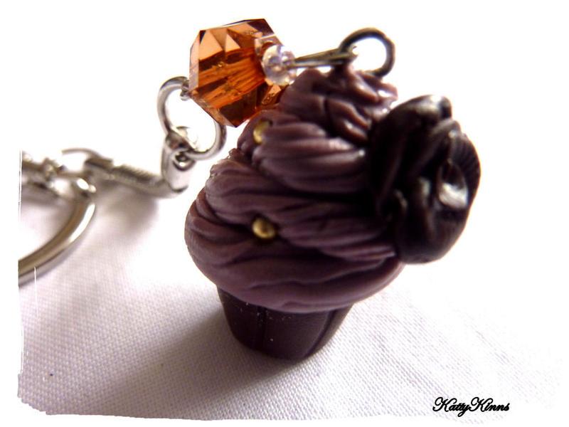 Chocolate Cupcake Keychain by Cateaclysmic