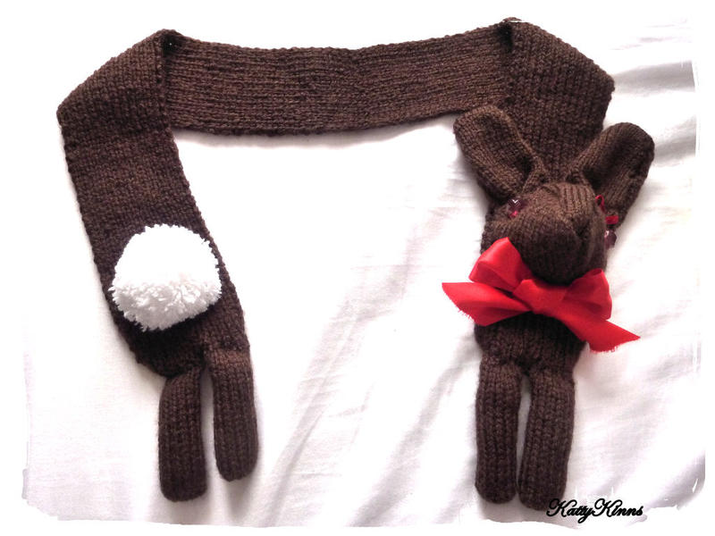 Chocolate Bunny Rabbit Scarf by Cateaclysmic
