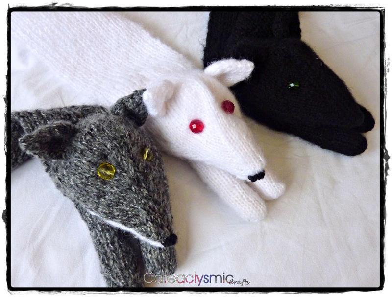 Grey Wind, Ghost & Shaggydog by Cateaclysmic