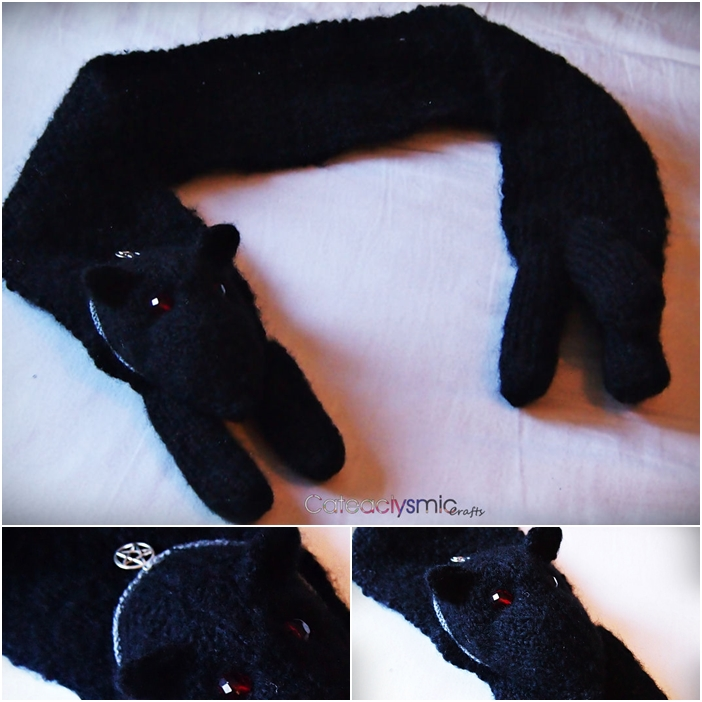 Halloween Hell Hound Scarf by Cateaclysmic