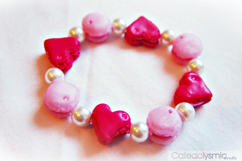 Pink Macaron Bracelet by Cateaclysmic