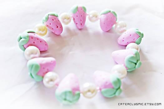 Pink Strawberry Bracelet
