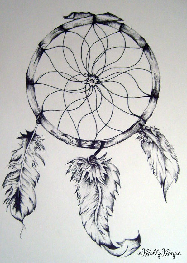 Dream catcher by xmollymayx on deviantart for Dream catcher drawing easy