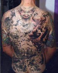 Bradlon biomech tattoo alien art tattooing