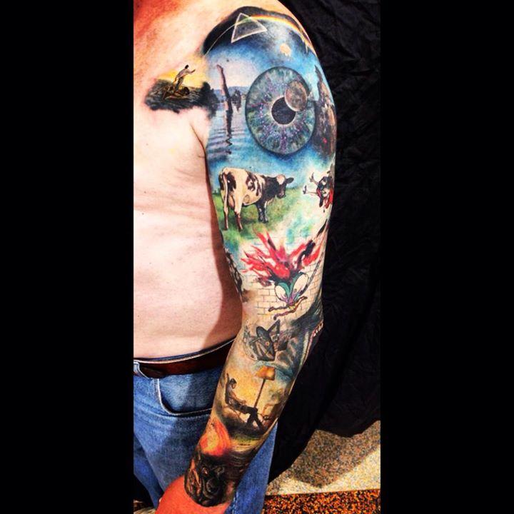 Ash Dosen Pink Floyd The Wall Tattoo By Alienarttattooing On Deviantart