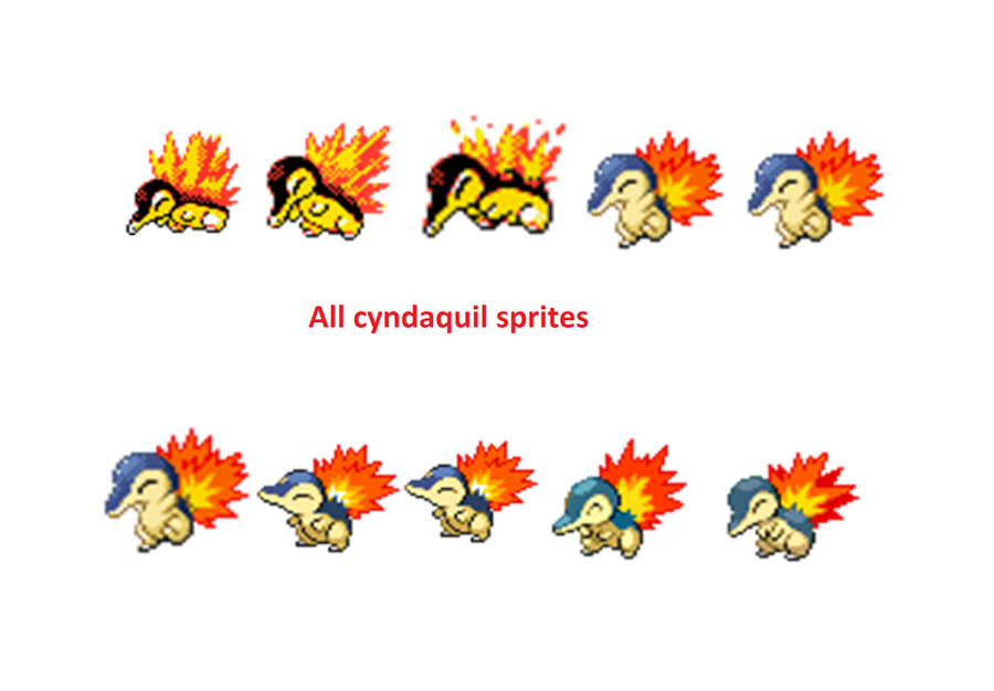 All Cyndaquil sprites by Snivy99 on DeviantArt