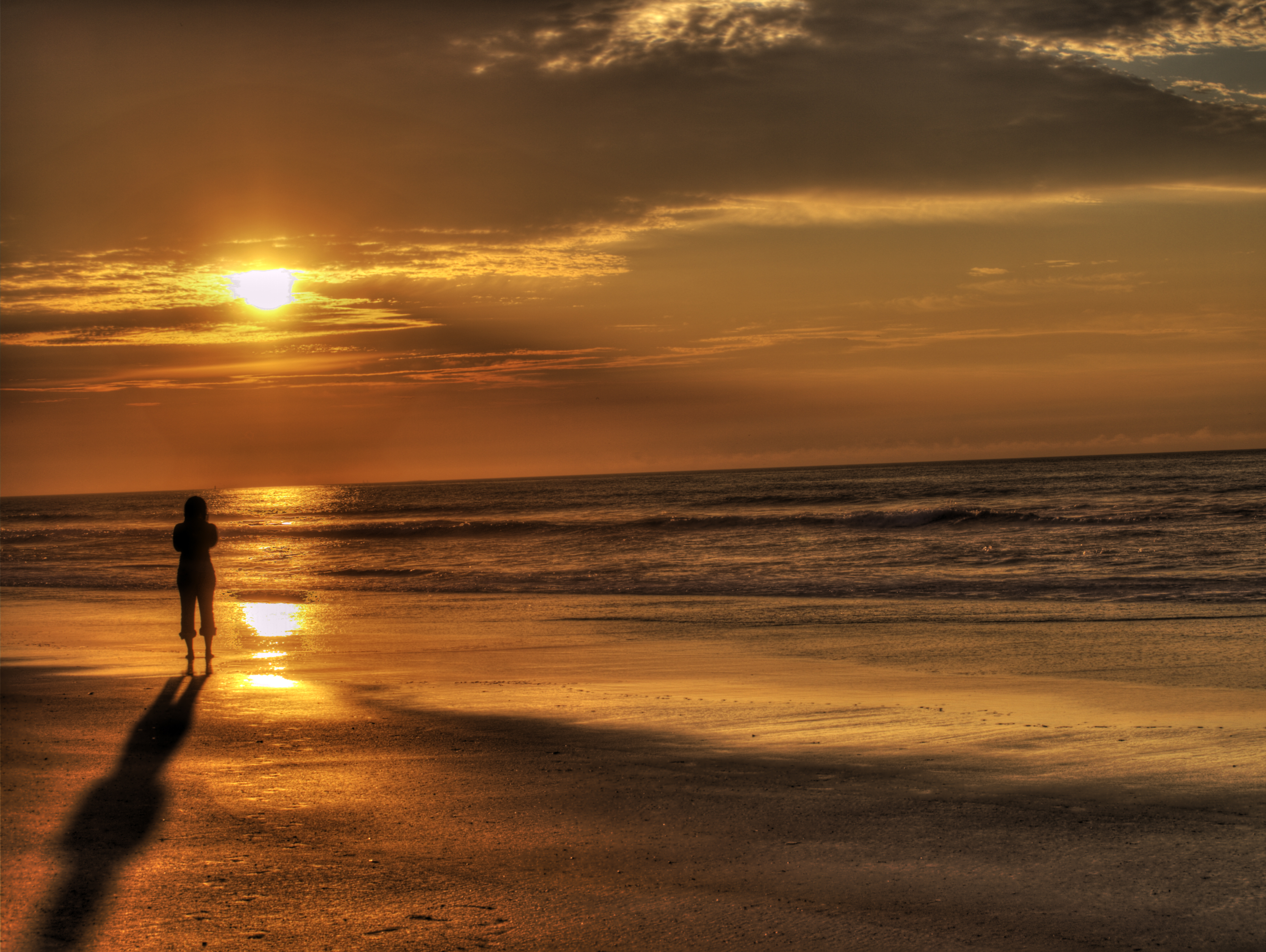 Sunrise On The Beach By DarkPhoenix36 On DeviantArt