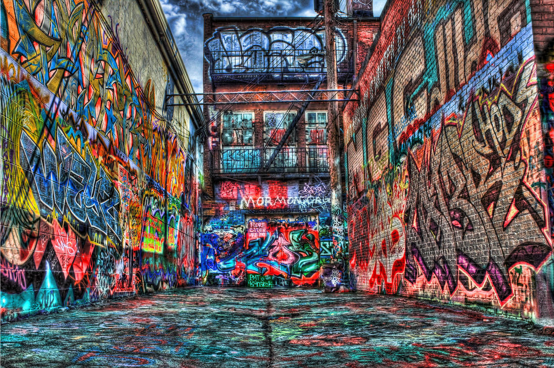 Surreal  Graffiti alley by DarkPhoenix36