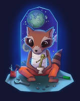 Rocket and Groot by lucasfranci
