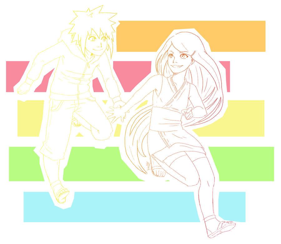 Kushina and Minato by Rainbowhero