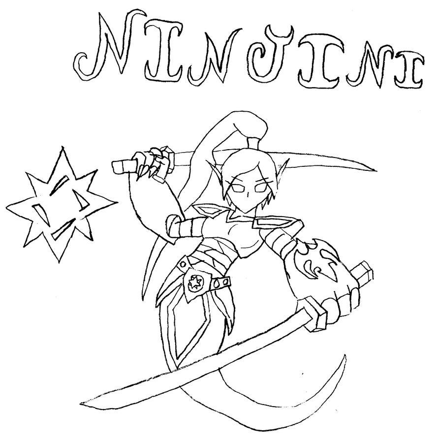 skylanders giants coloring pages ninjini skylander   Skylanders Giants Ninjini Coloring Pages Coloring Pages