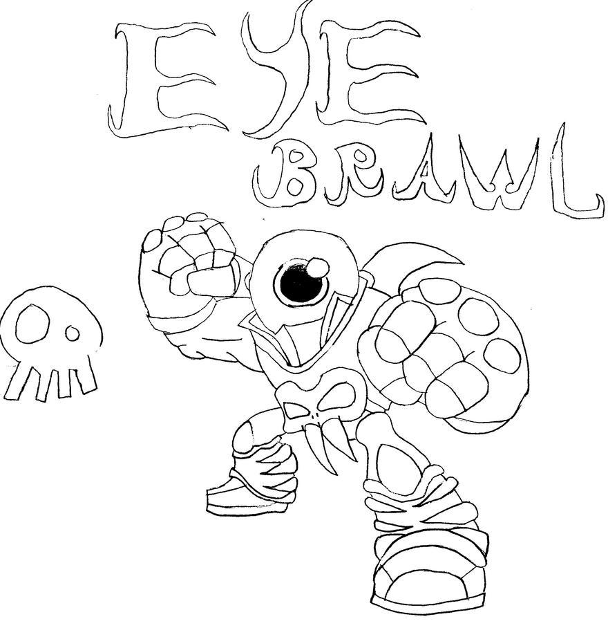skylanders giants coloring pages eye brawl eye brawl by drakius3000 on deviantart