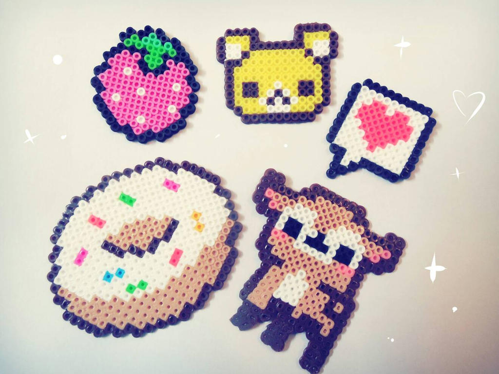 Mini Perler bead charms by CMYKidd