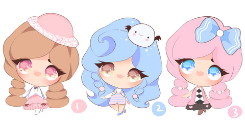 [open 3/3]  pastel fluffies