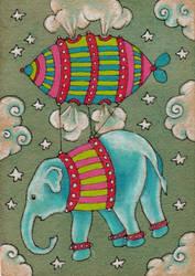 Elephant Ascending by amyweber