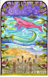 Whale Ocean Scene by amyweber