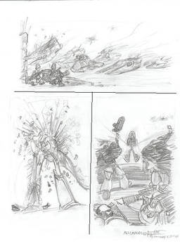 WH40K Big Battle Sketches