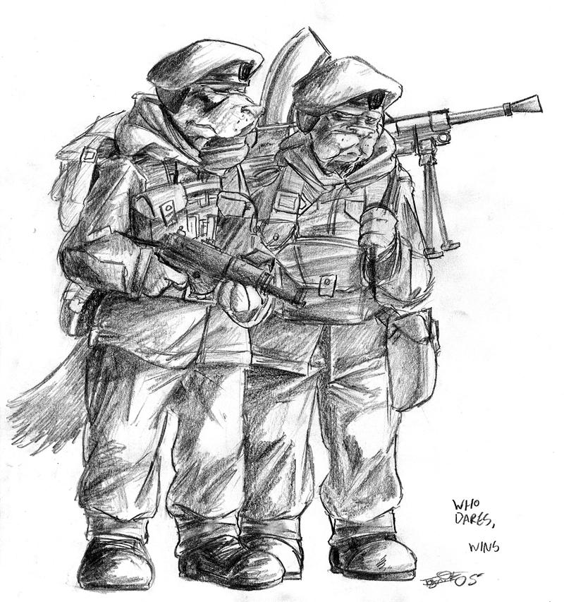 SAS Commandos by CommissarKinyaf